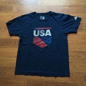 Navy blue USA adidas tee